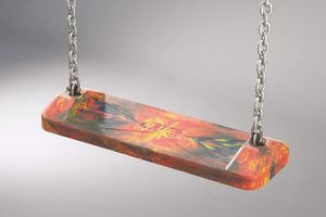Safety swing seat, Multicoloured, with 2.00 m long chains