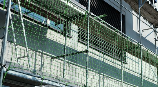 Brick Guardrail Net in green